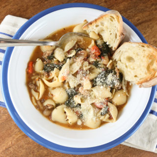 Italian Sausage & Pasta Soup