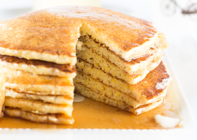 Cornmeal Pancakes-4
