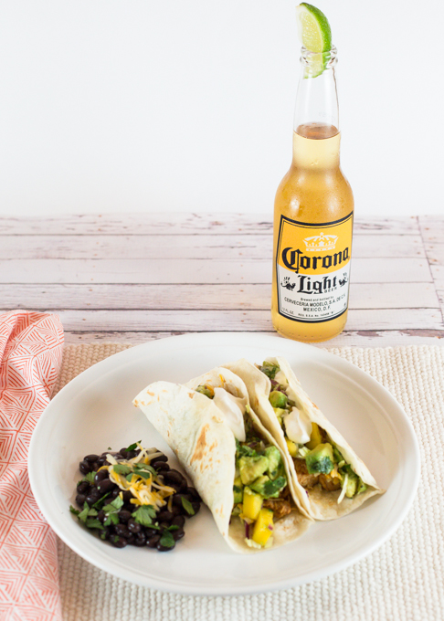 Chicken Soft Tacos with Mango Salsa