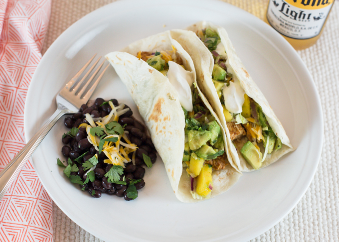 Soft Chicken Tacos with Mango Salsa-2
