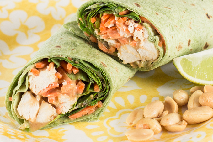 Thai Peanut Chicken Wraps-2