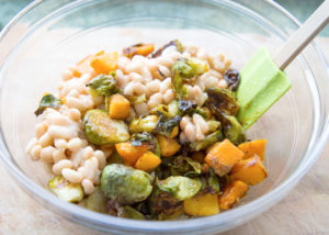 Brussel Sprout and Butternut Squash Salad