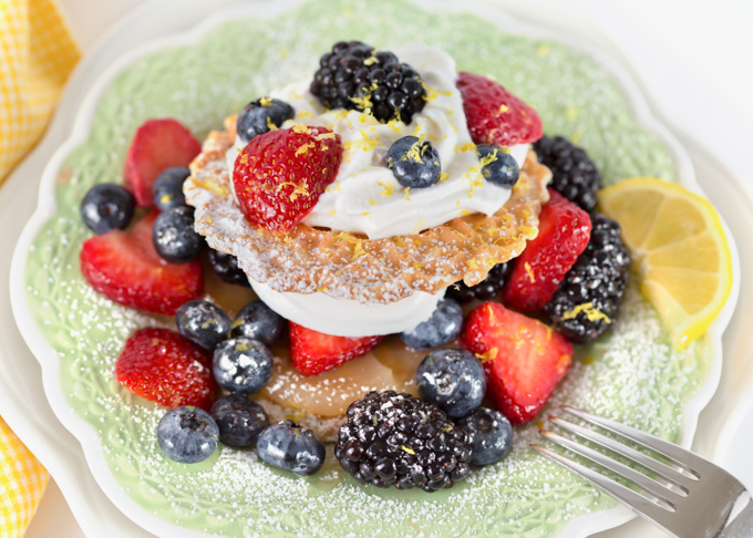 pizzelle lemon berry shortcake