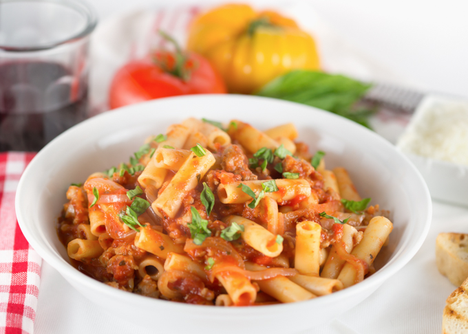 Sweet & Spicy Ziti with Italian Sausage