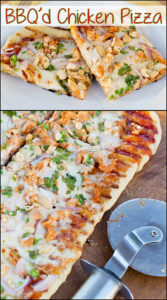 Grilled BBQ'd Chicken Pizza