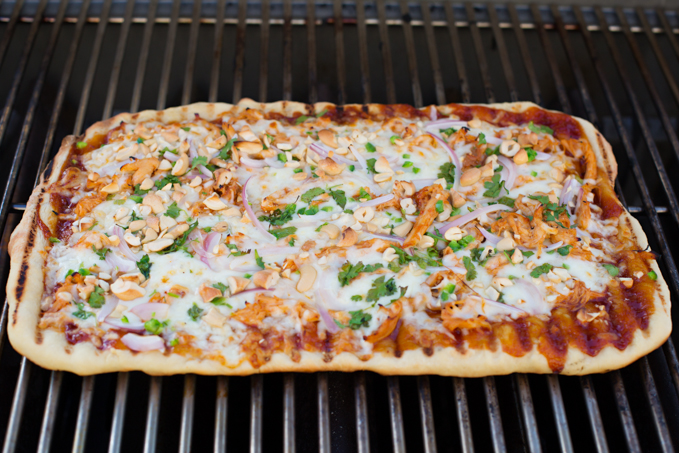 BBQ'd Chicken Pizza-4