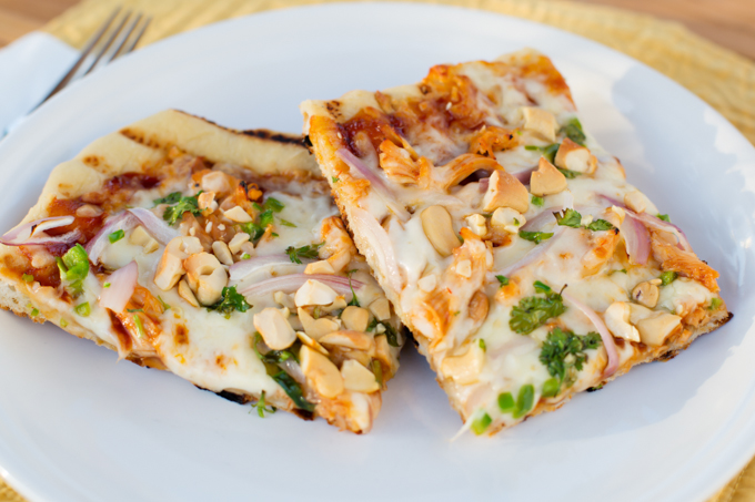 Grilled BBQ Chicken Pizza