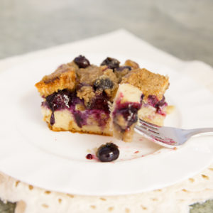 Blueberry French Toast Casserole`