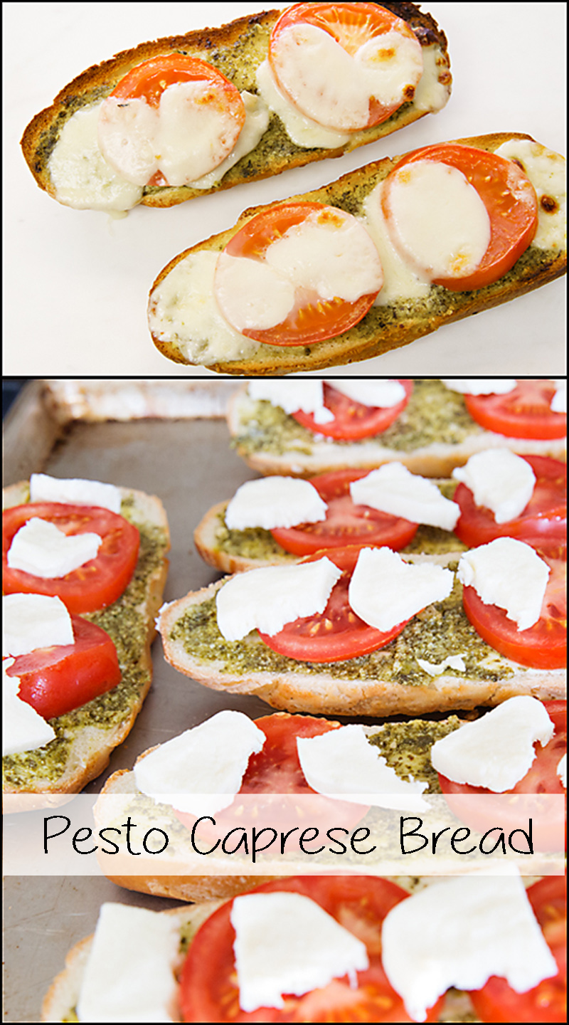 Pesto Caprese Bread