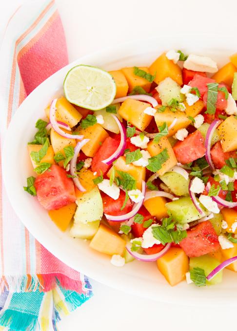 Melon Feta Salad