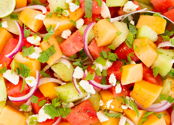 Melon Feta Salad - Joy In Every Season