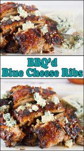 BBQ'd Blue Cheese Ribs