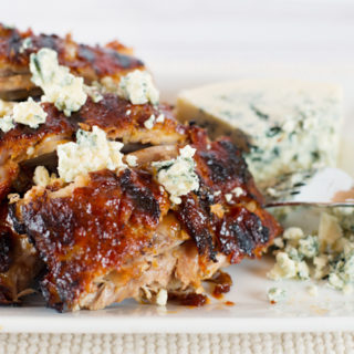 Blue Cheese BBQ'd Ribs