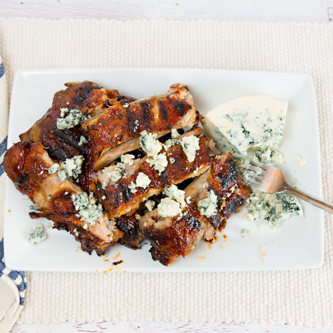 Blue Cheese BBQ'd Ribs-5