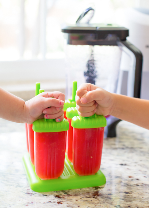 Watermelon Lime Popsicles