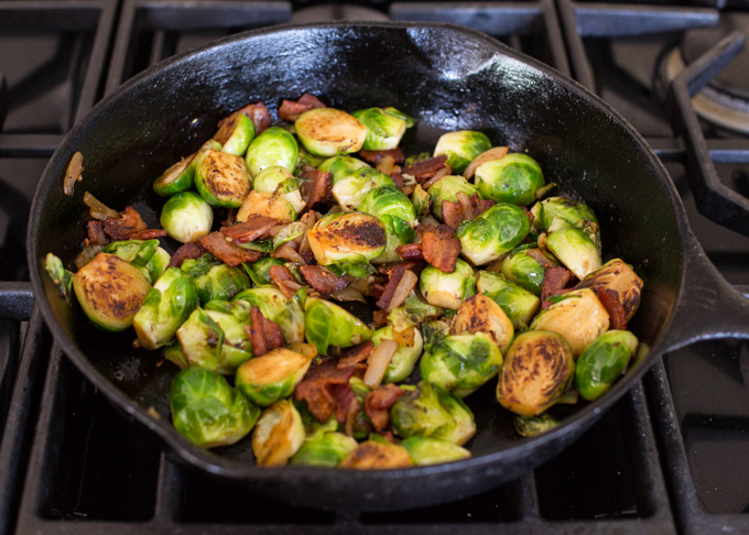 Brussel Sprouts with Bacon and Cranberry-2