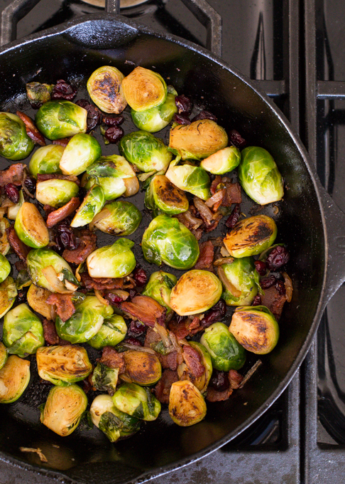 Brussel Sprouts with Bacon and Cranberry-3