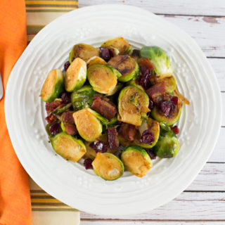 Brussel Sprouts with Bacon & Cranberry