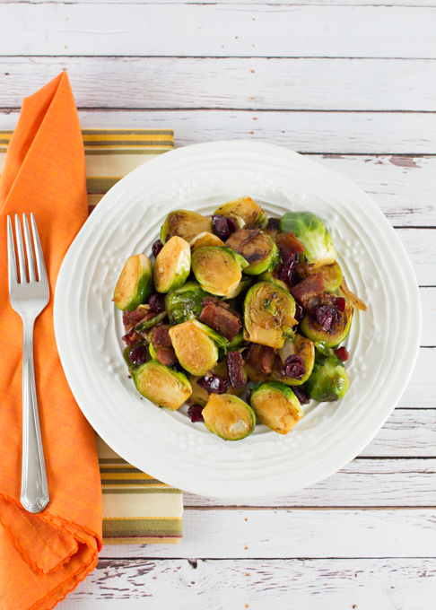 Brussel Sprouts with Bacon and Cranberry-6