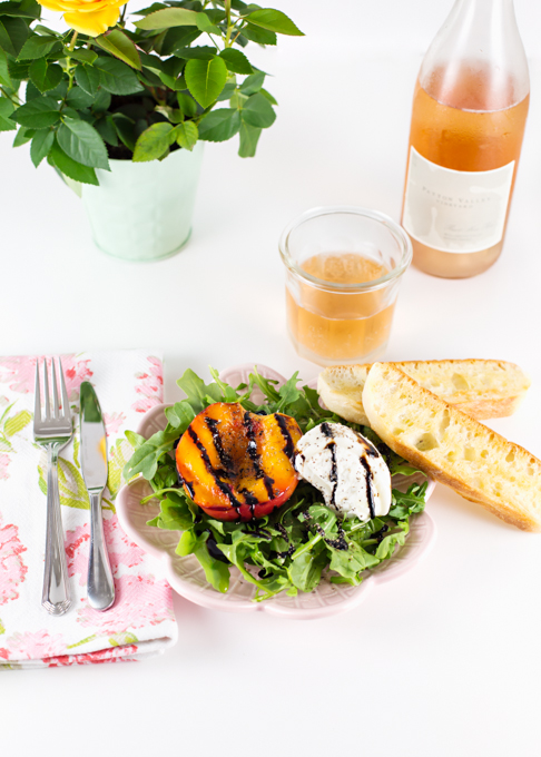 Grilled Nectarine & Burrata Salad
