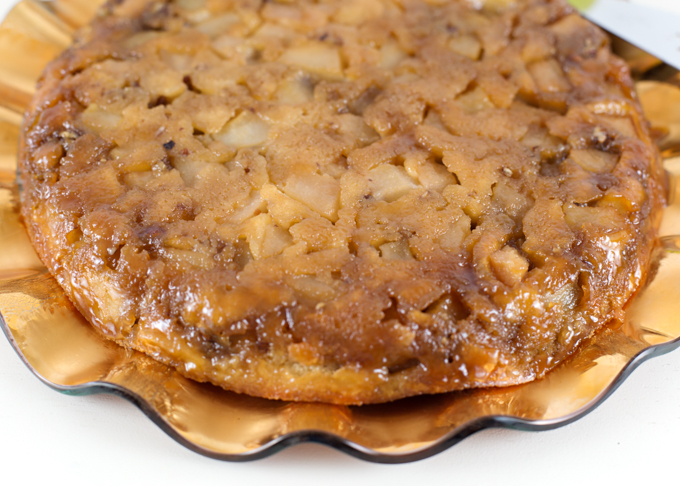 Caramelized Pear & Pecan Upside Down Cake-2