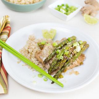 Cod & Asparagus en Papillote