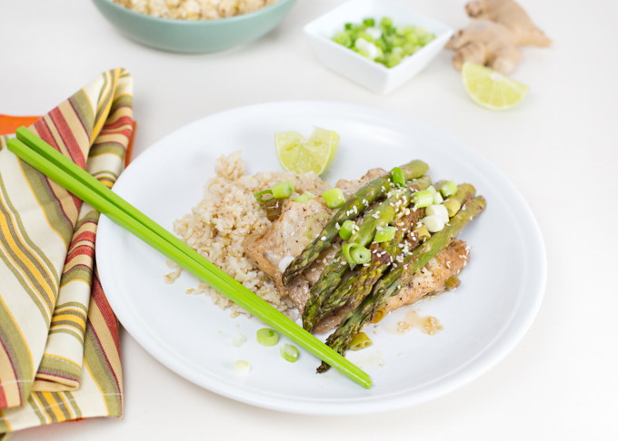 Cod asparagus en papillote joy in every season for Fish and asparagus