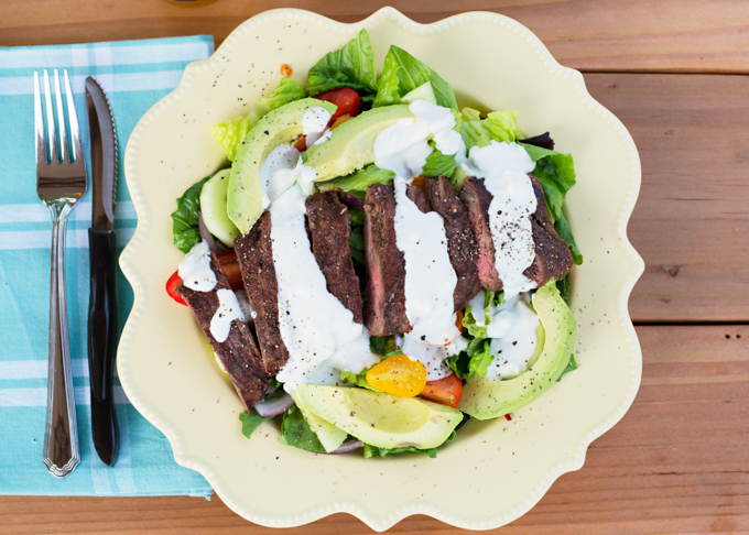 Steak Salad with Creamy Blue Cheese Dressing-5 - Joy In Every Season