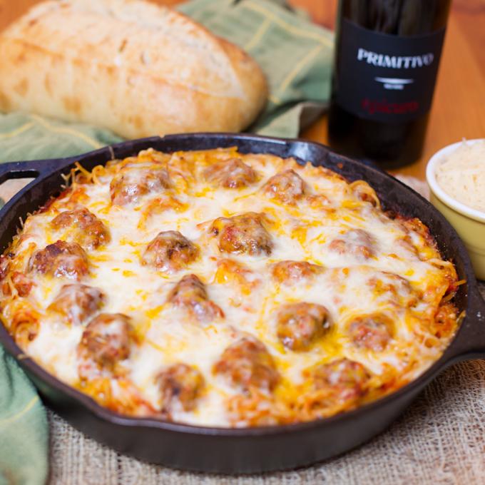 Baked Spaghetti & Meatballs-6