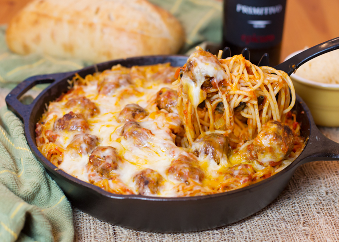 Baked Spaghetti Amp Meatballs Joy In Every Season