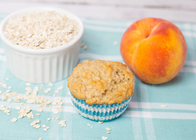 Oatmeal Peach Muffin