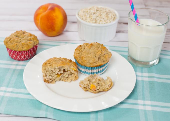 Oatmeal Peach Muffins-3