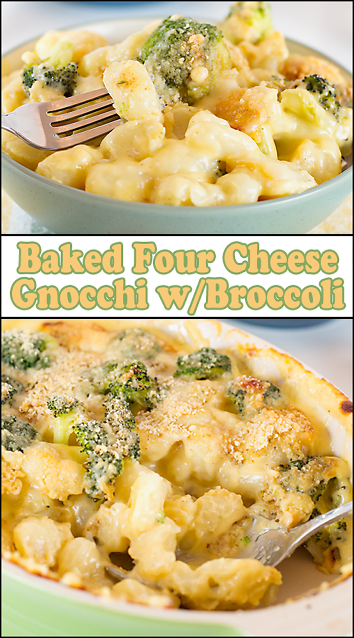 Baked Four Cheese Gnocchi w/Broccoli