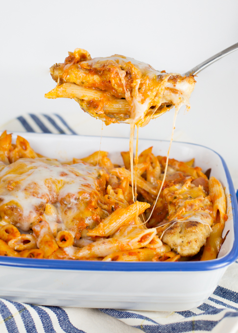 Chicken Parmesan w/Penne Pasta