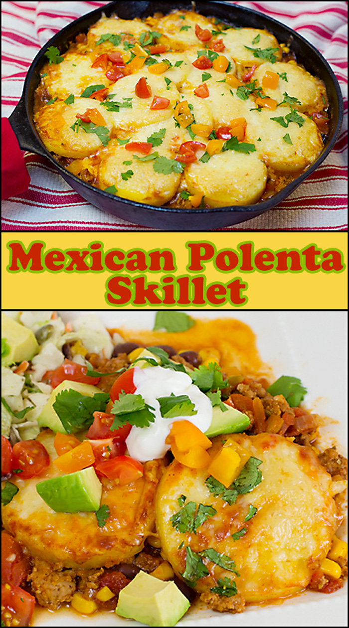 One Pan Mexican Polenta Skillet