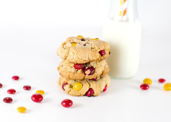 Peanut Butter M&M Fat Cookies