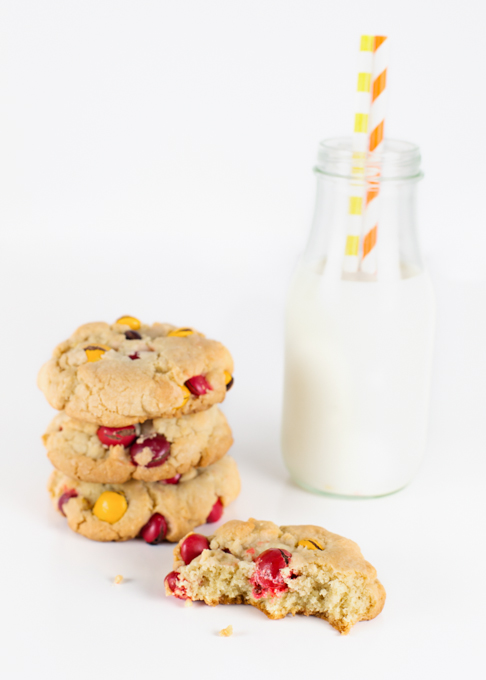 Peanut Butter M&M Cookies-3