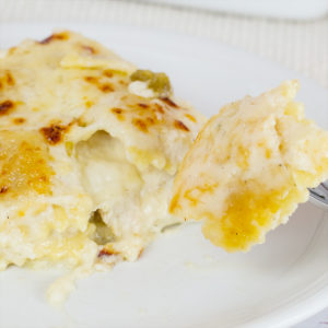 White Chicken Ravioli Bake