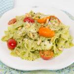 Caprese Avocado Pesto Pasta