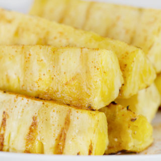 Grilled Pineapple with Honey & Cayenne