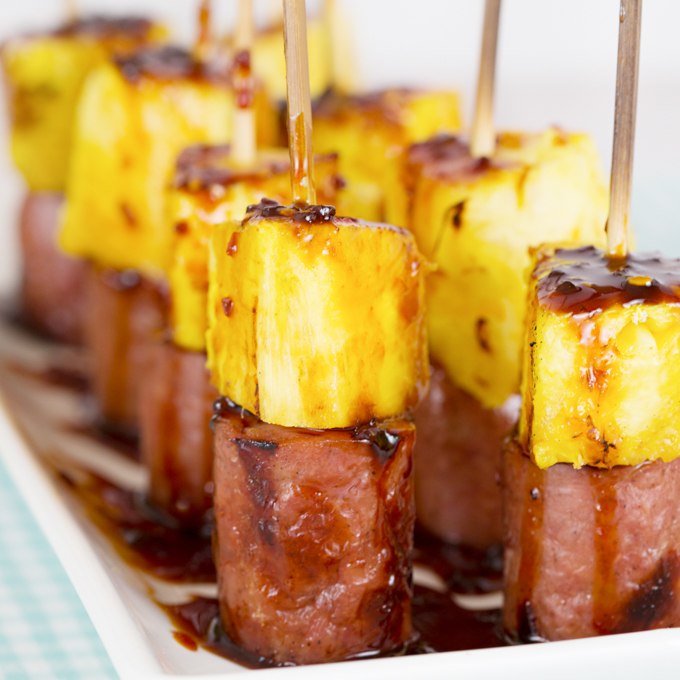 Sausage & Pineapple Kabobs