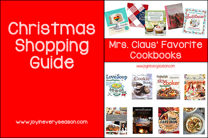 Mrs. Claus' Favorite Cookbooks