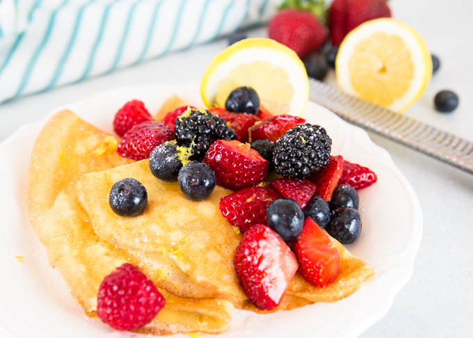 Lemon Berry Crepes