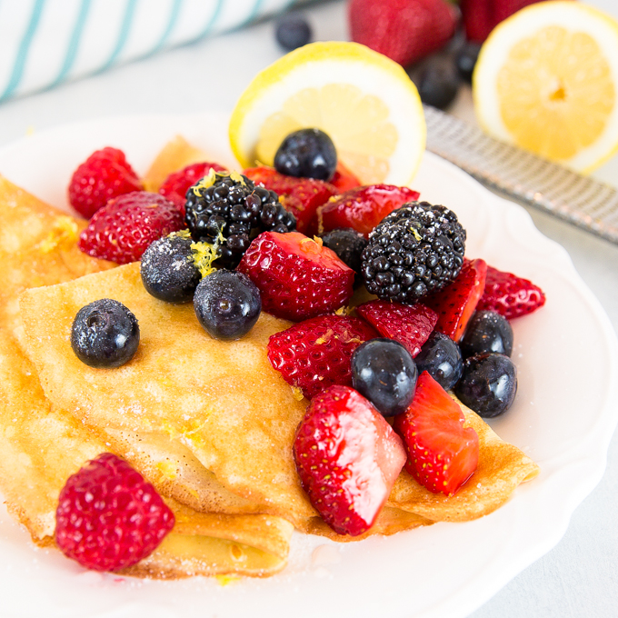 Lemon Berry Crepes