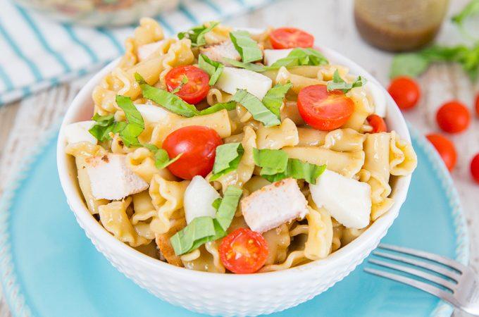 Chicken Caprese Pasta Salad