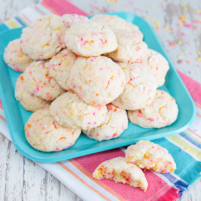 Gooey Sprinkle Cookies