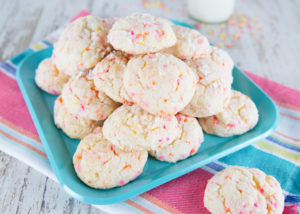 Gooey Sprinkle Cookies