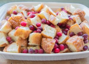 Cranberry Croissant Bread Pudding