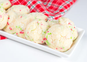 Christmas Gooey Sprinkle Cookies