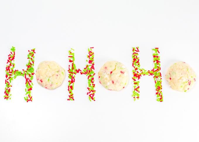 Christmas Gooey Sprinkle Cookies